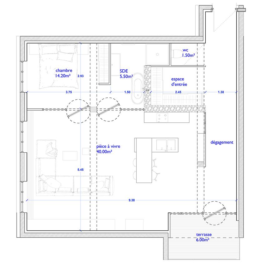 Rénovation d'un appartement à Annecy
