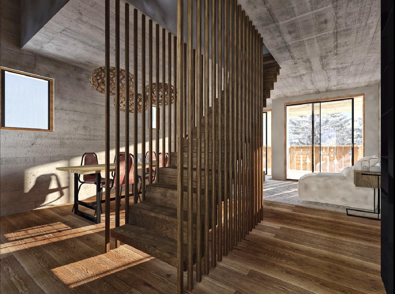 architecte-lyonnais-projet-travaux-rénovation-appartement-aménagement-interieur-montagne-alpes-courchevel